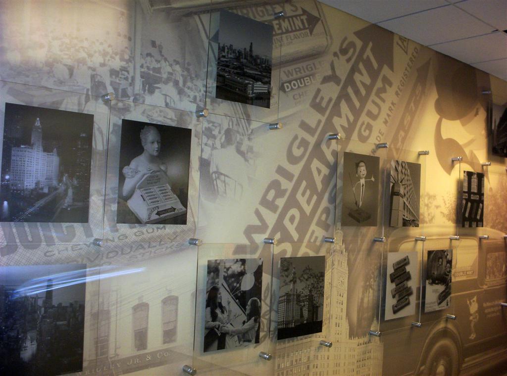 Wrigley Company History Wall