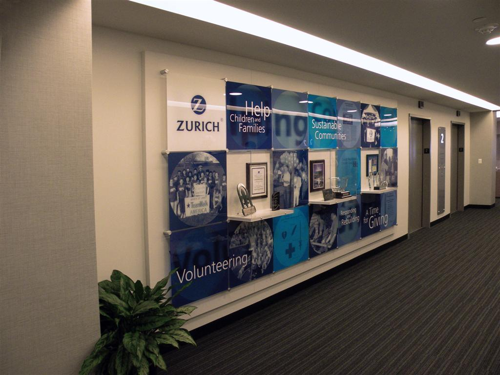 Zurich Insurance Service Product Wall Display
