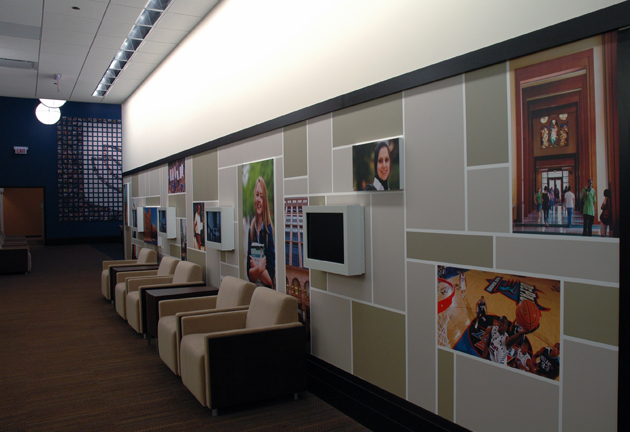DePaul University Wall Display