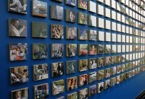 DePaul University Lounge Picture Wall