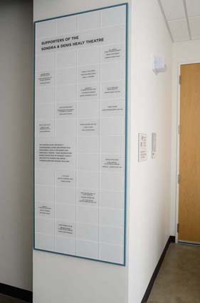 Name-A-Seat Donor Wall