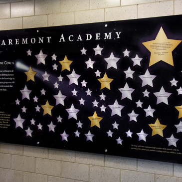 The Claremont Academy Chicago History Donor Walls