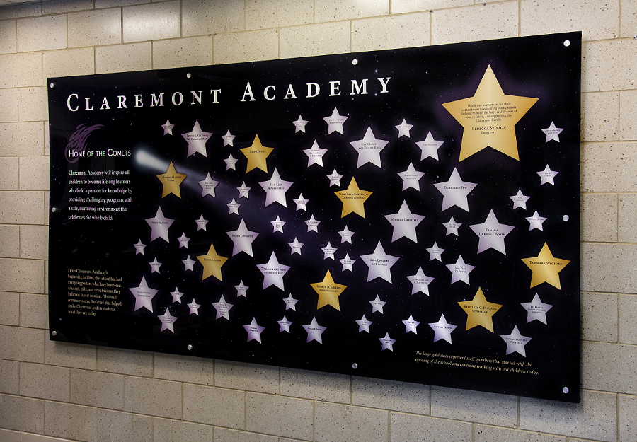 University Donor Recognition Wall