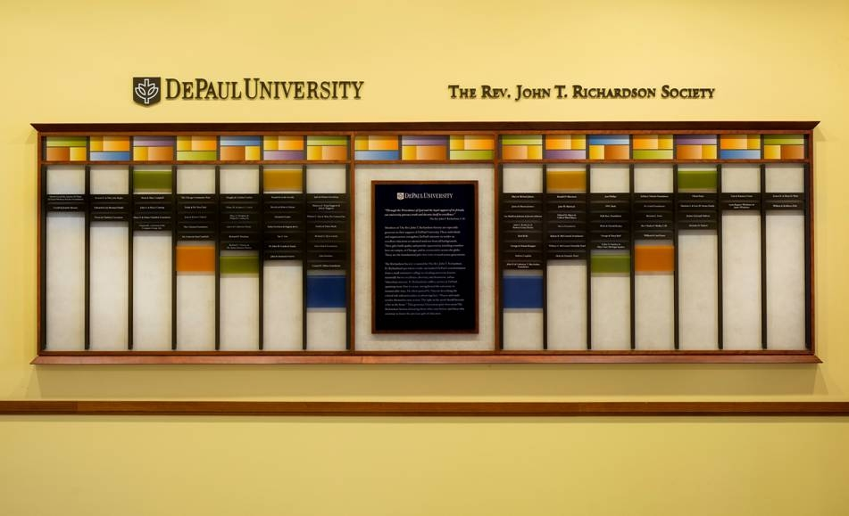 DePaul University Richardson Wall