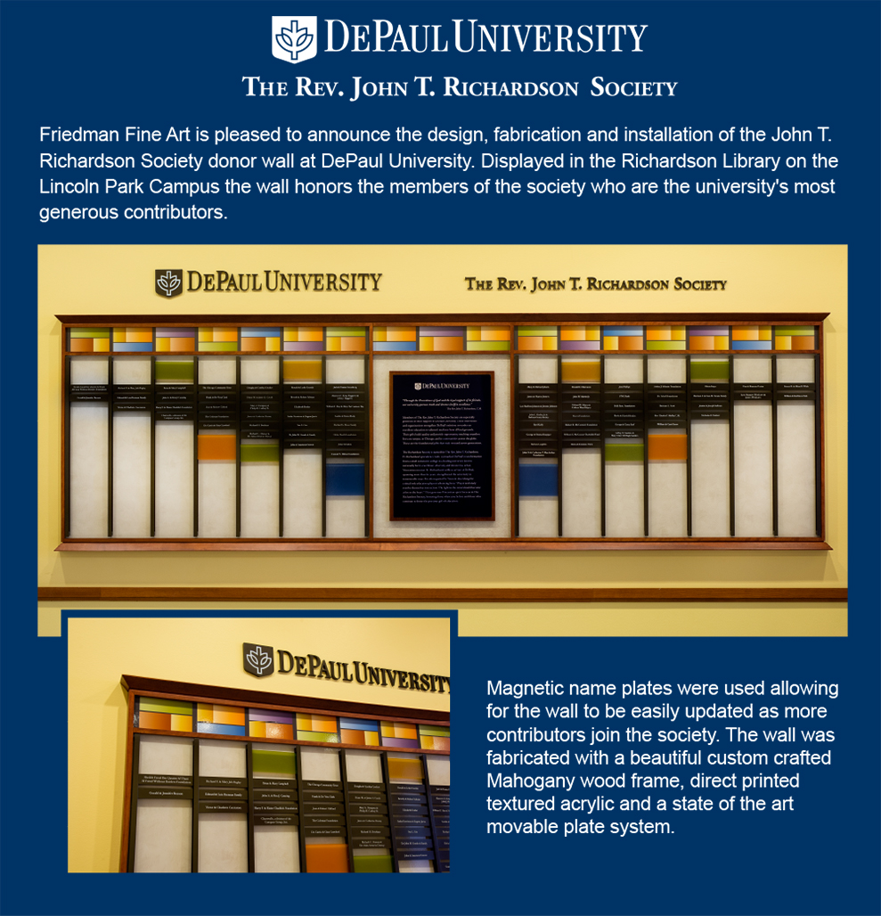 DePaul University Donor Wall