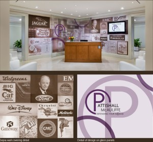 Corporate Logo and Product Walls