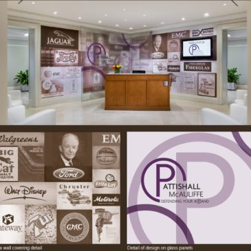 History Donor Wall for the Law Firm of Pattishall, McAuliffe, Newbury, Hilliard & Geraldson LLP