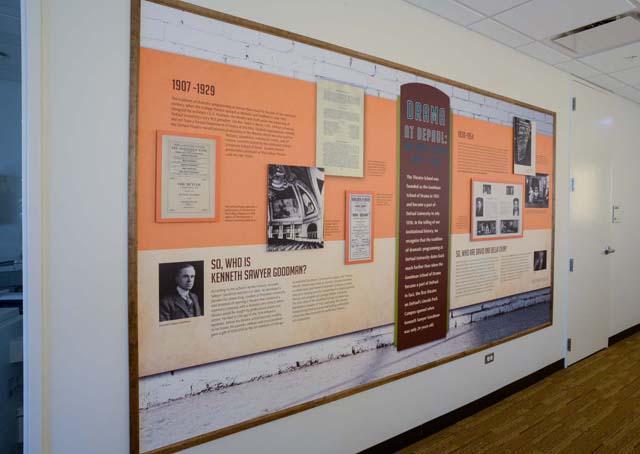 DePaul History Wall