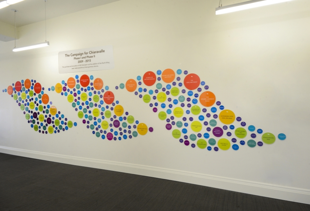 Chiaravalle Montessori Donor Wall 2015