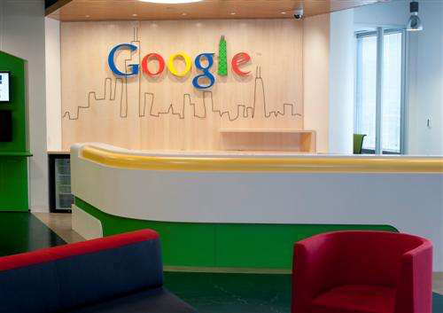 Google's Chicago Facility – Art & Graphics Wall