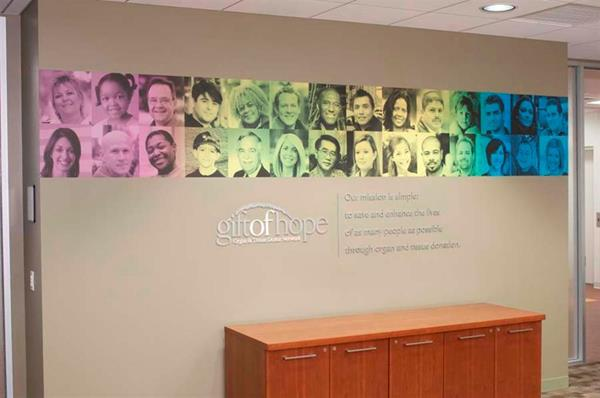 Mission statement donor wall