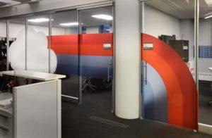 gogo executive area window film graphics