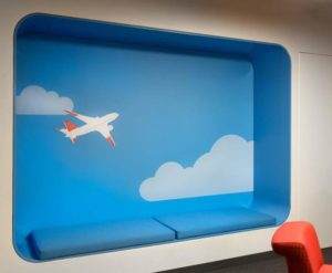 gogo Employee lounge graphics