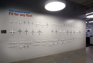 gogo commercial aircraft product wall