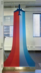 gogo airline glass graphics