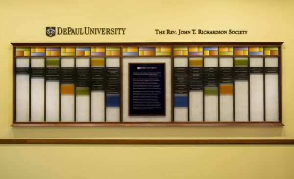 University Donor Wall