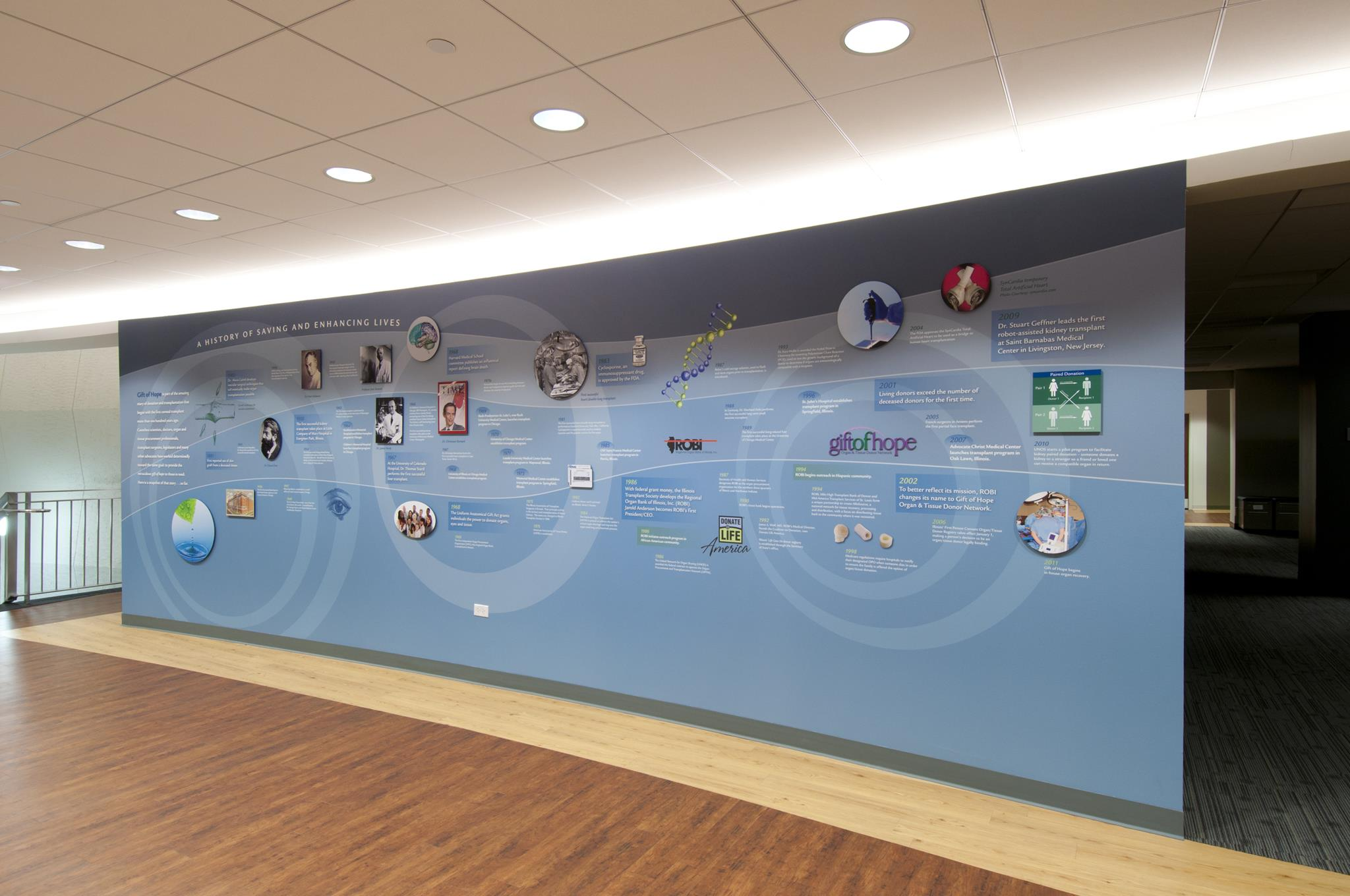 History Walls History Donor Product Walls And Graphics