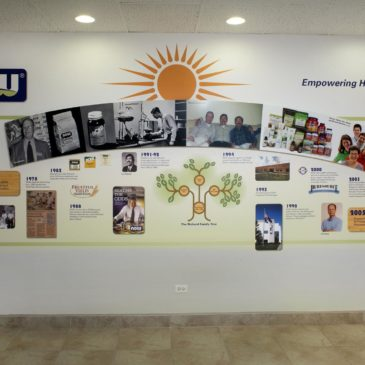NOW Foods History Timeline Corporation Wall