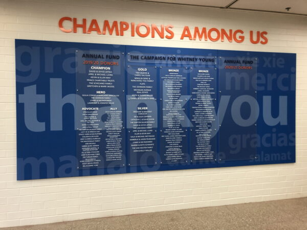 Whitney Young High School Donor Wall 2020